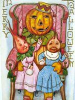 Vintage Halloween Postcard Whitney Anthropomorphic Vegetable Beet Creatures