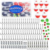Fishing Tackle Kit 160 Pieces Octopus Fishing Hooks Swivels Bobbers Sinker Beads