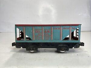MARX O Scale model Trains Lackawanna Hopper Train Car No DL&W 86000