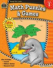 Ready-Set-Learn: Math Puzzles and Games Grd 1 by Teacher Created Resources Staff