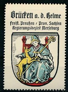 Reklamemarke / Sammelmarke Kaffee Hag (um 1925): Wappen Brücken an der Helme