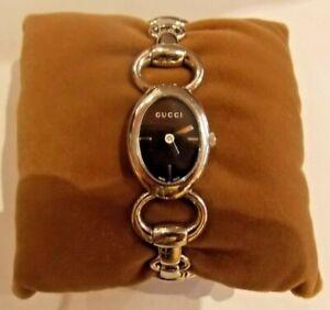 Montre Gucci femme Tornabuoni acier argent quartz vintage occasion étanche watch