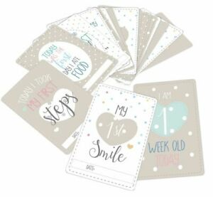 Baby Milestone Cards, Baby Shower / New Baby Keepsake Gift - pack of 20