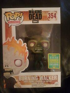 Funko POP The Walking Dead Burning Walker 2016 Exclusive #354