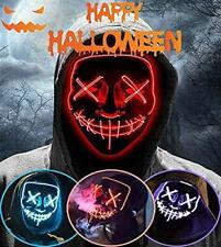 Mascara Purga LED Halloween Terror MáScaras,MáScara Disfraz (Red)