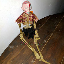 "16""  PLAID SHIRT ZOMBIE SKELETON hanging Halloween Decoration NEW corpse krueger"