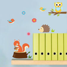 Removable Cute Zoo Animals Wall Stickers Decals For Kids Nursery Baby Room Decor