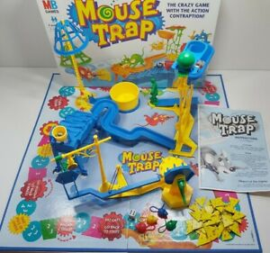 Mouse Trap Board Game MB Games Hasbro 1999 Vintage Classic 100% complete