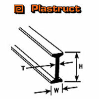 Plastruct BFS-6 Pack of 5 x I Beams Plastic Mouldings 2.4 x 4.8 x 600mm