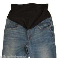 New Womens Blue Bootcut NEXT Maternity Jeans Size 8 Long Regular