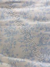 "Pottery Barn Kids abc Alphabet Toile Panels Curtains Drapes BLUE 50x63"" Set of 2"