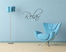 Relax wall art quote vinyl transfer decal sticker Mural Decor Bathroom Bedroom