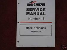 MERCRUISER DEALER SERVICE MANUAL'S-ENGINES--GM 4 CYL