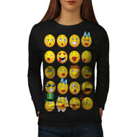 Emoticon Cool Joke Funny Women Long Sleeve T-shirt NEW | Wellcoda