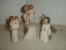 Three Willow Tree Figurines, Grandmother, Angel's Embrace, Angel of Caring