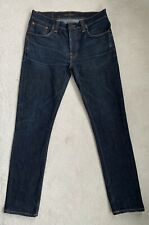 Men's Nudie Grim Tim Slim Straight Jeans W34 L32 (D149)