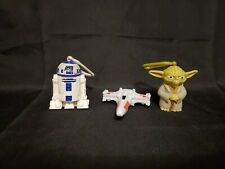 Lot of 3 McDonald's toys Star Wars figures 2010 Yoda R2D2 X wing
