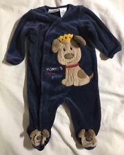 BABIES R US INFANT BOYS MOMMY'S LITTLE PRINCE One Piece Sleepwear Romper 3months