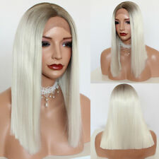 Ladies Synthetic Lace Front Hair Wigs Cosplay Full Wigs Short Bob Ombre Blonde