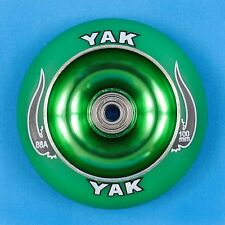 YAK Scooter Wheel 100mm Green w/Bearings - Razor Lucky District Phoenix