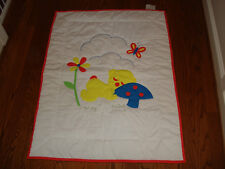 House of Hatten ABC Baby Crib Quilted Blanket Mushroom Bear Flower Butterfly 4x3