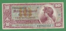 10 Dollar Military Payment Certificate Series 521