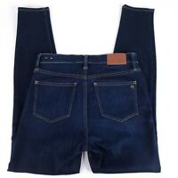"Madewell 9"" High Rise Skinny Denim Jeans Womens Size 27 Dark Blue Wash - EUC"