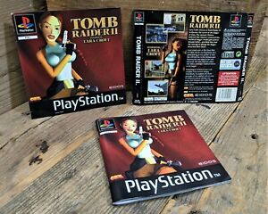 Tomb Raider II 2 ~ Genuine ART INSERT & MANUAL ONLY (PS1) NO Game