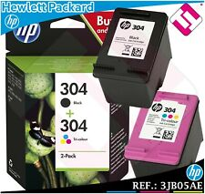 PACK HP TINTA NEGRA TRICOLOR 304 ORIGINAL CARTUCHO NEGRO COLOR +DE 1000 EN STOCK