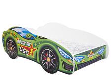 CHILDRENS BED TODDLER KIDS RACING CAR + MATTRESS *6 DESIGNS* + SHELF! 140x70cm