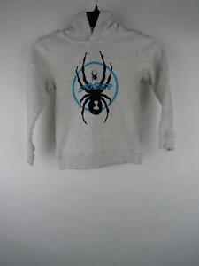 Spyder Boy 6 Gray Cotton Polyester Graphic Heather Long Sleeve Hoodie Sweatshirt
