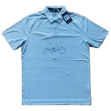 RORY MCILROY SIGNED GREY NIKE INNOVATION POLO GOLF SHIRT #'d 7/10 UDA COA LE
