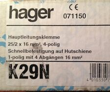 TOP 2 Stück Hager Hauptleitungsabzweigklemme 4-pol.25/2x16qmm K29N