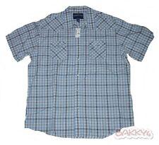 Mens AEROPOSTALE Blue Plaid Western Short Sleeve Shirt size M NWT #3205