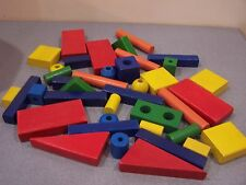 39 Multicolor building blocks wood wooden construction toy toddler learning bead