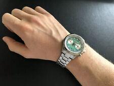 Helgray silverstone Green Meca Quartz Chronograph Saphire