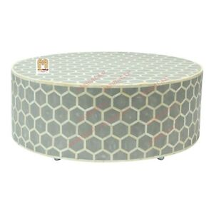 bone inlay coffee table round table dining table Shipping Fee with insurance AU