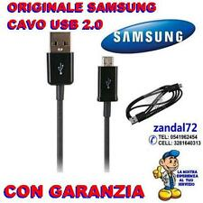 CAVO PER RICARICA E DATI SAMSUNG ORIGINALE USB GALAXY J1 J3 J5 J7 J9 NERO