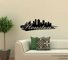 Houston Texas Skyline Vinyl Wall Decal Wall Sticker Man cave Bedroom Removable