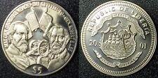 2001 Liberia $5 Battle Of Gettysburg General Lee & Meade Mint Unc  #99ALF1