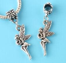 2pcs Tibetan silver angel Charm bead fit European Bracelet Pendant #V161