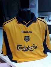 LIVERPOOL Vintage AWAY 3RD KIT Football Shirt REEBOK 2000 2002 46/48