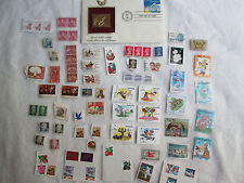 Vtg Random Stamp Collection USA Foreign Used New President Collector Disney Spac