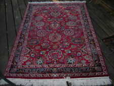 Clearance Sale! Top Notch Unusual Vintage Signed Indian Rug 4.1X6.1