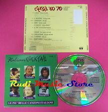 CD Cocktail 60 70 Vol 2 compilation Dalla Milva Concato Oxa no mc dvd vhs(C35)