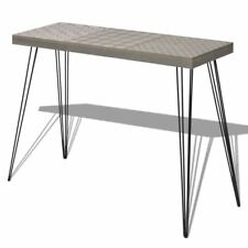 vidaXL Hall Console Table Sideboard Lamp Stand Entry Hallway Living Room Gray