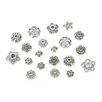 60g/250pc Antiqued Silver Hollow Flower End Bead Caps For Jewelry Cr rv