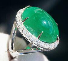 Emerald Diamond White Gold Ring 14K Natural GIA Certified 19.31CTW RETAIL $16200