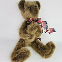 "Artist Teddy Bear Linda Wiese Alta Ia Plush Jointed 22"" USA"