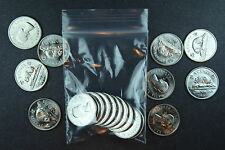 Canada 5 Cent Nickles - 1964 Bag of 10 Unc Coins from Mint Bag UNSEARCHED!